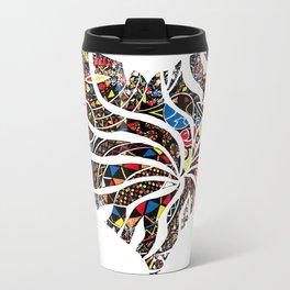 pattern heart Metal Travel Mug