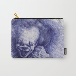 Ink Pen Sketch of Pennywise the clown Carry-All Pouch