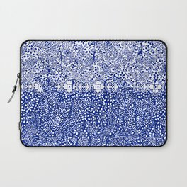 sarasa paisley all over in blues Laptop Sleeve