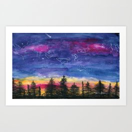 The Zodiac over Sequoia Art Print