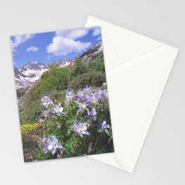 Columbine above Blue Lake near Breckenridge,Colorado Stationery Cards