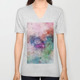 Star Gazer - Abstract, space, ink painting Unisex V-Neck