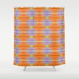 Orange ikat Shower Curtain