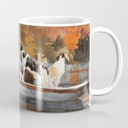 Winslow Homer1 - Hunting Dogs In Boat - Digital Remastered Edition Coffee Mug
