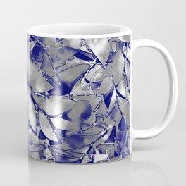 Grunge Art Silver Floral Abstract G169 Coffee Mug