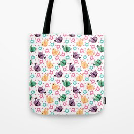 Freely Birds Flying - Fly Away Version 3 - Rouge Pink Dots Color Tote Bag