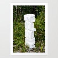 Untitled (iMac Styrofoam) Art Print