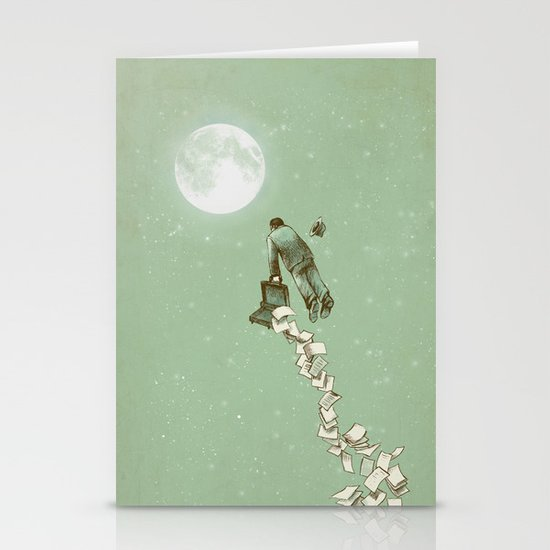 Solitary Flight Stationery Cards