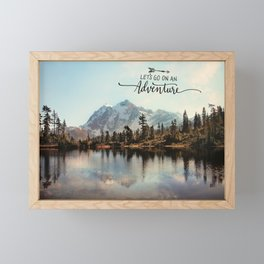 lets go on an adventure Framed Mini Art Print