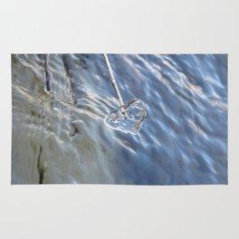 Blue Ice Heart Rug