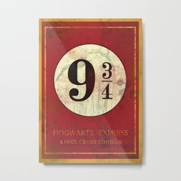 Platform 9 3/4 sign Metal Print