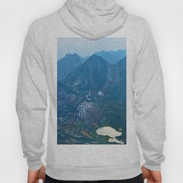 View from the summit of Pyramid Mountain in Japser National Park, Canada Hoody