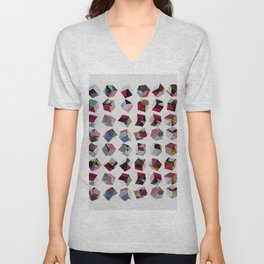 Abstract Composition 721 Unisex V-Neck