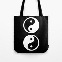 yin yang Tote Bags featuring Yin Yang by Beautiful Homes