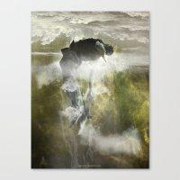 arya Canvas Prints featuring Man floating by ARTiSTiC TENDENCiES