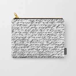 Modern Calligraphy Poem Carry-All Pouch