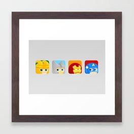 Avengers icon :) Framed Art Print