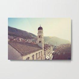 Belltower in Dubrovnik Metal Print