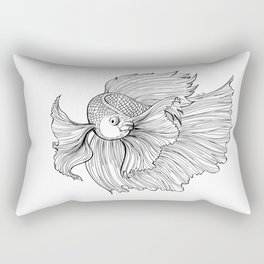 Siamese fighting fish Rectangular Pillow