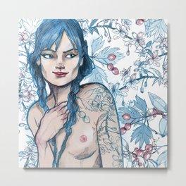 Winter Tattoo Girl Metal Print
