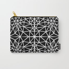 black and white abstract triangle drawing Carry-All Pouch