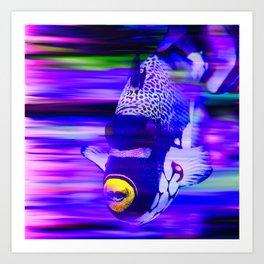ANGEL FISH Violet Purple Art Print
