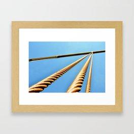The Golden Coils Framed Art Print