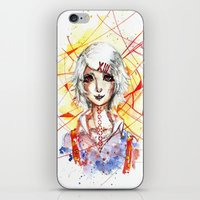 tokyo ghoul iPhone & iPod Skins featuring Tokyo Ghoul - Juuzou Suzuya by Kayla Phan