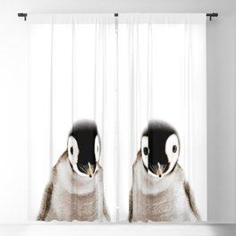 Baby Penguin, Baby Animals Art Print By Synplus Blackout Curtain