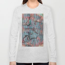 Geometric Design III - Lines and squiggles Long Sleeve T-shirt