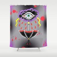 evil eye Shower Curtains featuring Evil Eye.  by Alyssa Hall