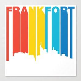 Retro 1970's Style Frankfort Kentucky Skyline Canvas Print
