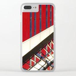 Linee che s'intrecciano su rosso vivo Clear iPhone Case