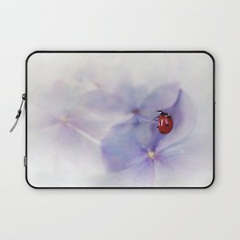 Ldybird on purple hydrangea Laptop Sleeve