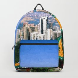 View on Victoria Harbour Hong Kong Backpack