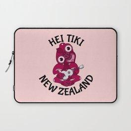 Pink Hei Tiki with Ukulele Laptop Sleeve