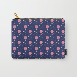 Dreaming of Hot Air Ballooning - Navy Carry-All Pouch