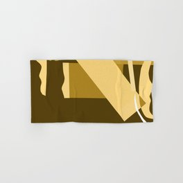 Matisse Inspired Gold Ochre Collage Hand & Bath Towel