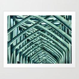 Bridge Ribs II Art Print