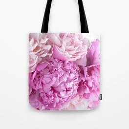 Pink Peonies Shabby Chic Cottage Peonies Tote Bag