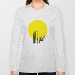 Sunset Minimal Cactus Long Sleeve T-shirt