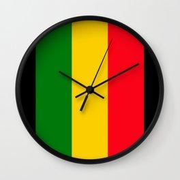 Rastafari Colors Wall Clock