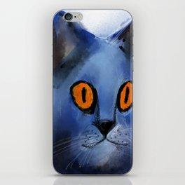 The Blue Cat iPhone Skin