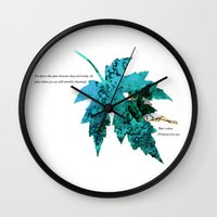 tinker bell Wall Clocks featuring Tinker Bell I'll always love you by Chien-Yu Peng
