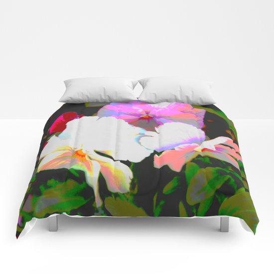 Painterly Pansies Comforters