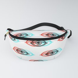 3D Eye Pattern Fanny Pack