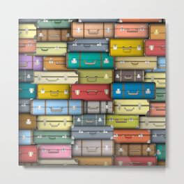 colored suitcases Metal Print