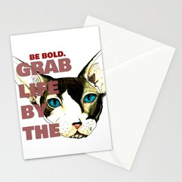 Grab Life by the Pussy Stationery Cards