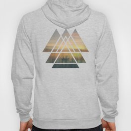 Sacred Geometry Triangles - Magical Misty Nature Hoody