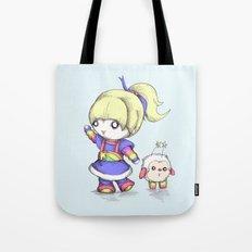 Rainbow Plush Tote Bag